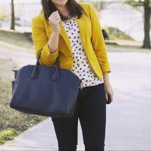 The Limited Mustard Yellow Gold Blazer Jacket